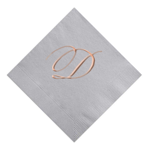 Our custom Dove Gray Foil Embossed Cocktail Napkin with Shiny Rose Gold Foil couldn't be more perfect. It's time to show off your impeccable taste.