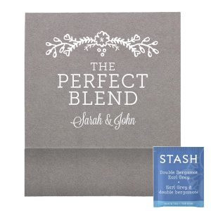 The ever-popular Natural Slate Tea Favor with Matte White Foil Color has a Marigold Vine graphic and is good for use in Accents, Floral themed parties and will make your guests swoon. Personalize your party's theme today.