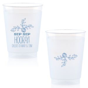 ForYourParty's chic Matte Royal Blue Ink 24 oz Frost Flex Cup with Matte Royal Blue Ink Screen Print has a Rose Accent 2 graphic and is good for use in Accents themed parties and will impress guests like no other. Make this party unforgettable.