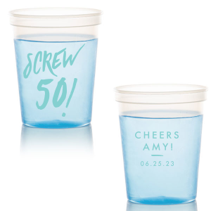 Our beautiful custom Navy 16 oz Stadium Cup with Matte Tiffany Blue Ink Cup Ink Colors will give your party the personalized touch every host desires.