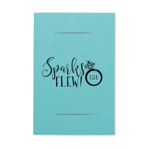 Our custom Poptone Tiffany Blue Small Sparkler Sleeve with Matte Black Foil Color has a Diamond Ring graphic and is good for use in Fashion, Wedding, Bridal Shower themed parties and can be customized to complement every last detail of your party.