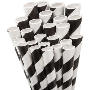 Our custom Black Stripe Striped Straw can be customized to complement every last detail of your party.