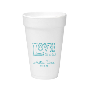 Love Word Art Foam Cup