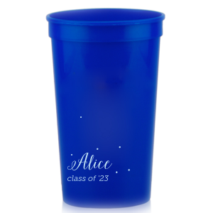 The ever-popular Royal Blue 16 oz Stadium Cup with Matte Sky Blue Ink Cup Ink Colors couldn't be more perfect. It's time to show off your impeccable taste.