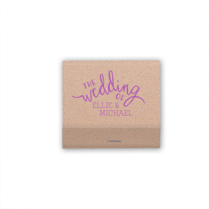 Personalized Poptone Lavender Candle Matchbox with Matte White Foil Color has a The Wedding Of graphic and a Rose Accent graphic and is good for use in Accents themed parties and will impress guests like no other. Make this party unforgettable.