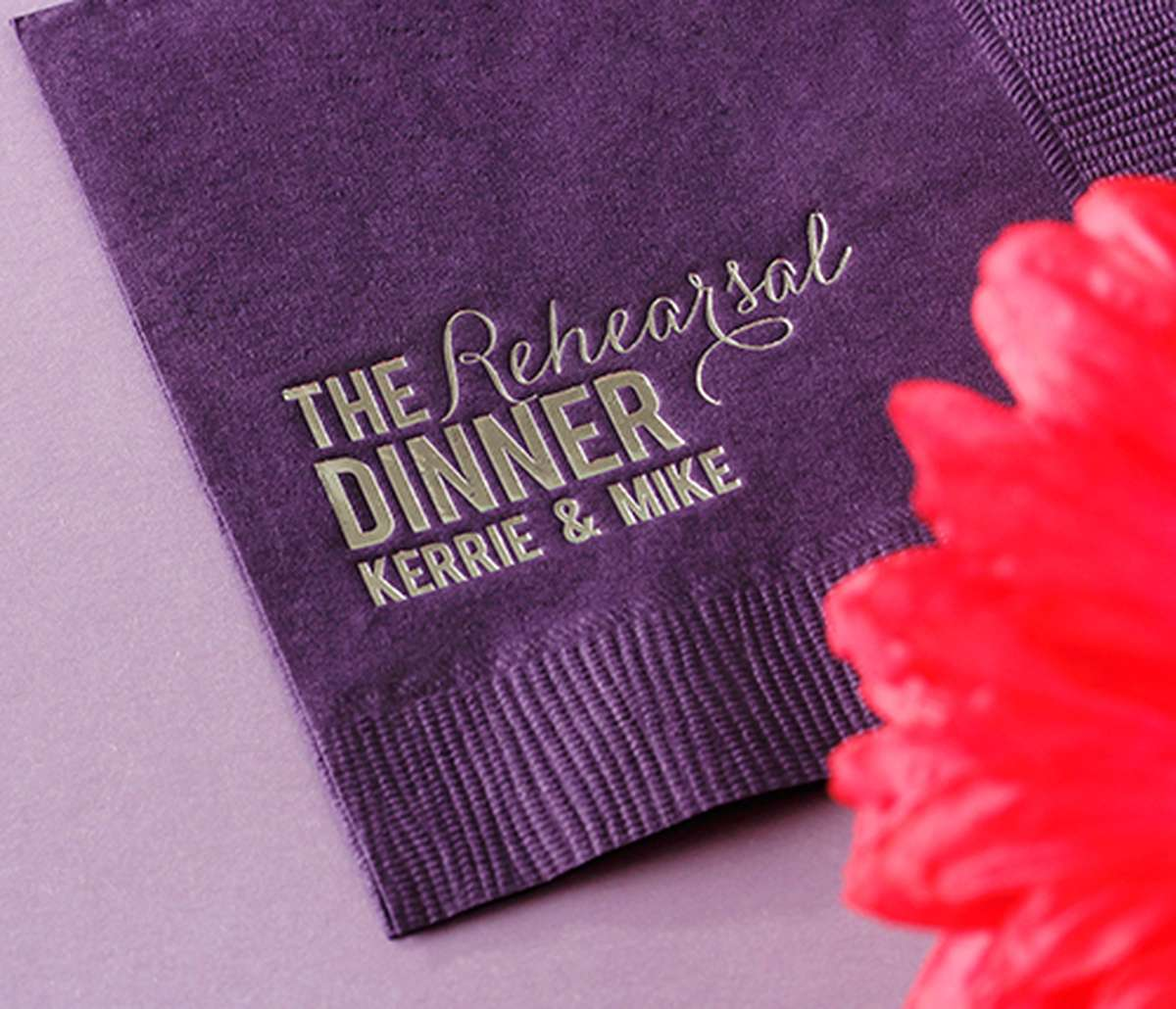 Personalized Cocktail Napkin