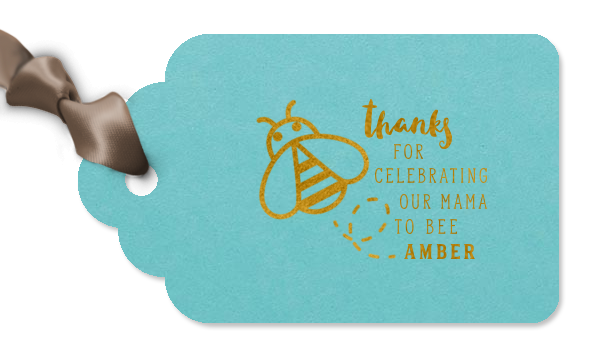 baby shower gift tag for party favors