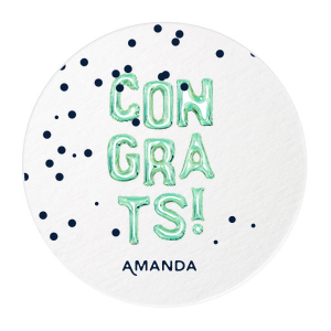 CONGRATS! Balloon Photo/Full Color Coaster
