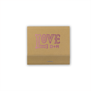Personalized Kraft 30 Strike Matchbook with Matte White Foil has a Love 2 graphic and is good for use in Words, Wedding, Bridal Shower themed parties and will impress guests like no other. Make this party unforgettable.