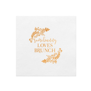 ForYourParty's elegant Fog Heather Dinner Napkin with Shiny Copper Foil has a Rustic Floral Frame 2 graphic and is good for use in Frames, Accents, Wedding themed parties and will impress guests like no other. Make this party unforgettable.