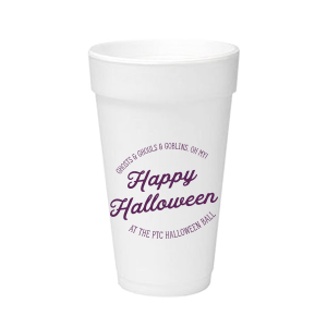 Our personalized 12 oz Styrofoam Cup with Matte Eggplant Ink will add that special attention to detail that cannot be overlooked.