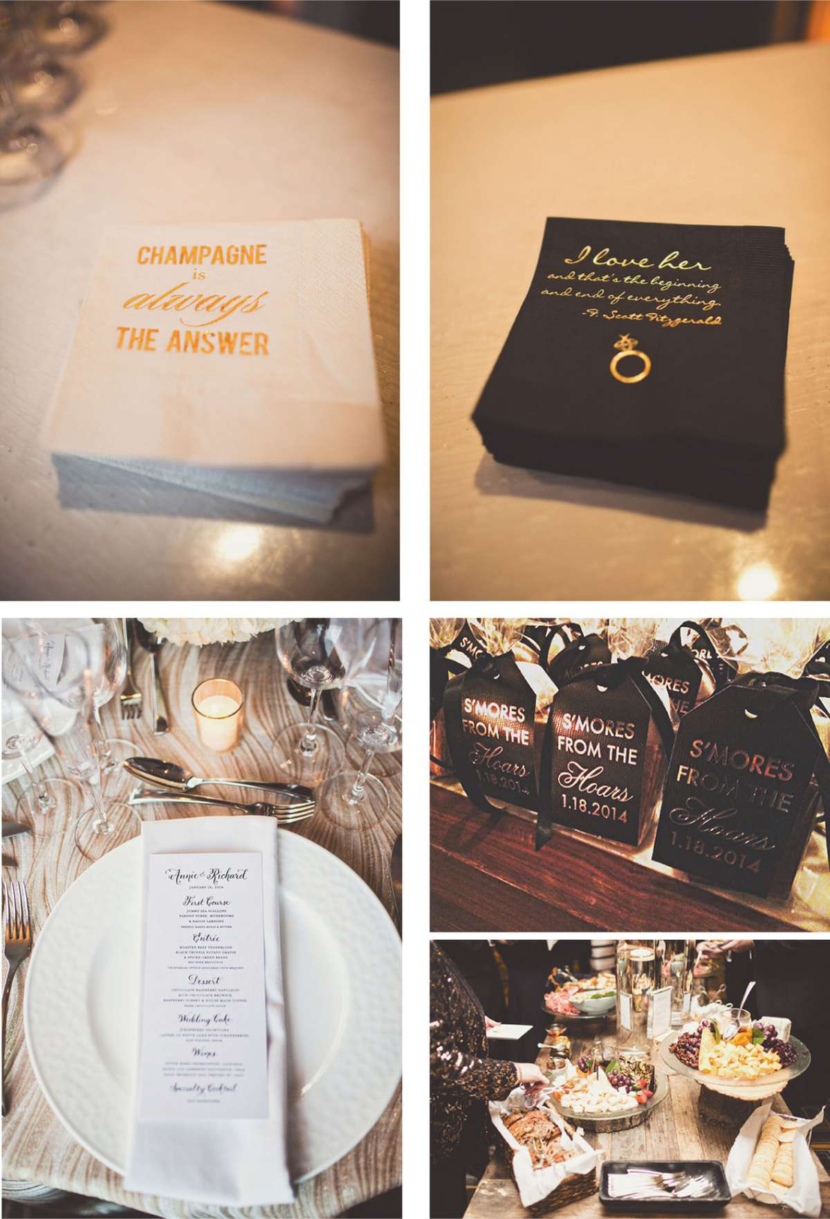 personalized wedding napkins and personalized party favors