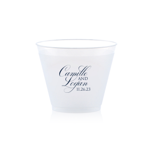 The ever-popular Matte Navy Ink 9 oz Frost Flex Cup with Matte Navy Ink Cup Ink Colors will impress guests like no other. Make this party unforgettable.