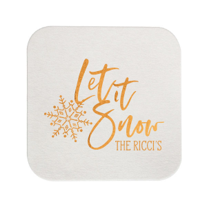 Our custom Eggshell Square Coaster with Shiny Copper Foil has a Snowflake graphic and is good for use in Delphine themed parties and will give your party the personalized touch every host desires.