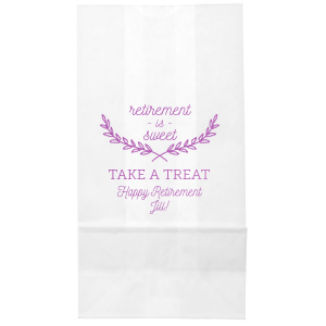 Our beautiful custom Satin Plum Cellophane Small Bag with Satin Plum Foil Color has a Branch Frame 2 graphic and is good for use in Floral themed parties and will impress guests like no other. Make this party unforgettable.