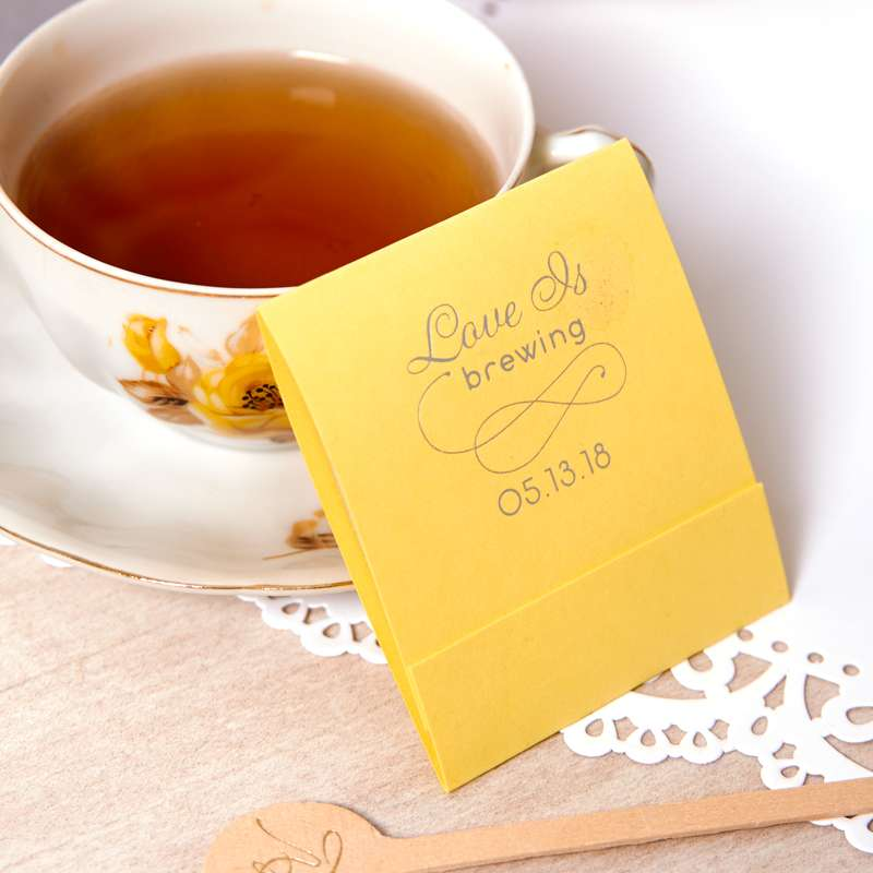 wedding tea favors that you can customize
