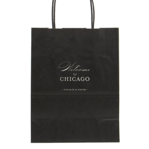 Custom Black Euro Bag with Shiny Sterling Silver Foil couldn't be more perfect. It's time to show off your impeccable taste.