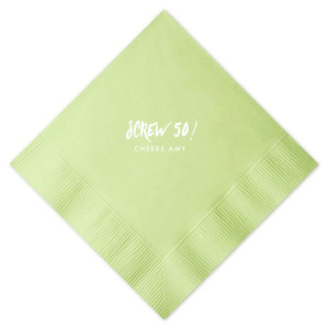 Personalized Watercolor Sea Glass Cocktail Napkin with Matte White Foil will add that special attention to detail that cannot be overlooked.
