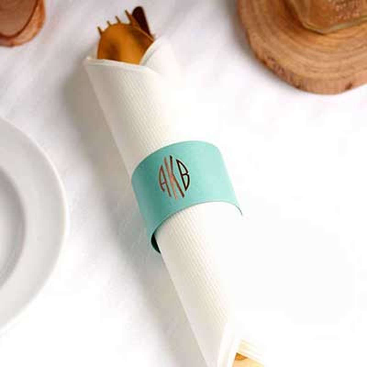 custom napkin ring table top favor