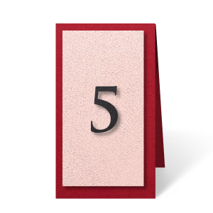 Layer colors to create table numbers that will stand out while fitting your theme perfectly. Ideal for a wedding, mitzvah or other formal event. Choose your colors and seat guests with style.