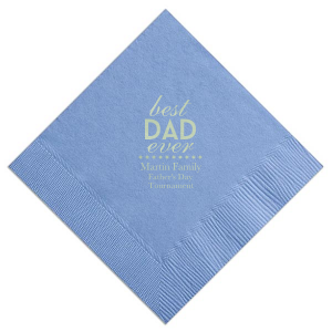 ForYourParty's personalized French Blue Cocktail Napkin with Shiny Green Tea Foil has a sharp diamond graphic accent and is good for Outdoor BBQ's, Father's Day Celebrations and other fun family occasions. These napkins will give your party the personalized touch every host desires.