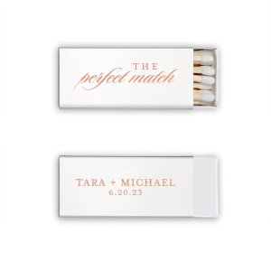 You've found the perfect match! Personalize this shimmery matchbox with the happy couple's names and wedding date for both a fun complement to your sparkler send off and a memorable custom wedding favor.