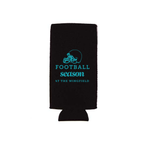 Custom Khaki Flat Can Cooler with Matte Teal/Peacock Ink Cup Ink Colors has a Helmet graphic and is good for use in Sports themed parties and couldn't be more perfect. It's time to show off your impeccable taste.