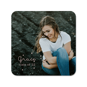 Our custom White Photo/Full Color Square Coaster with Matte Blush Ink Digital Print Colors are a must-have for your next event—whatever the celebration!