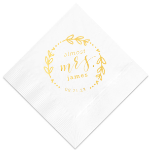 Almost Mrs Frame Napkin