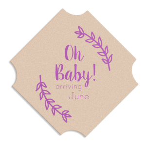 Our custom Kraft with Blush back Deco Coaster with Satin Plum Foil has a Leaf Monogram graphic and is good for use in Frames, Floral themed parties and will impress guests like no other. Make this party unforgettable.