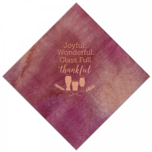 Personalized Cranberry Cocktail Napkin with Shiny Rose Gold Foil has a Hops Flourish graphic and is good for use in Drinks, Holiday and Thanksgiving themed parties and are a must-have for your next event—whatever the celebration!