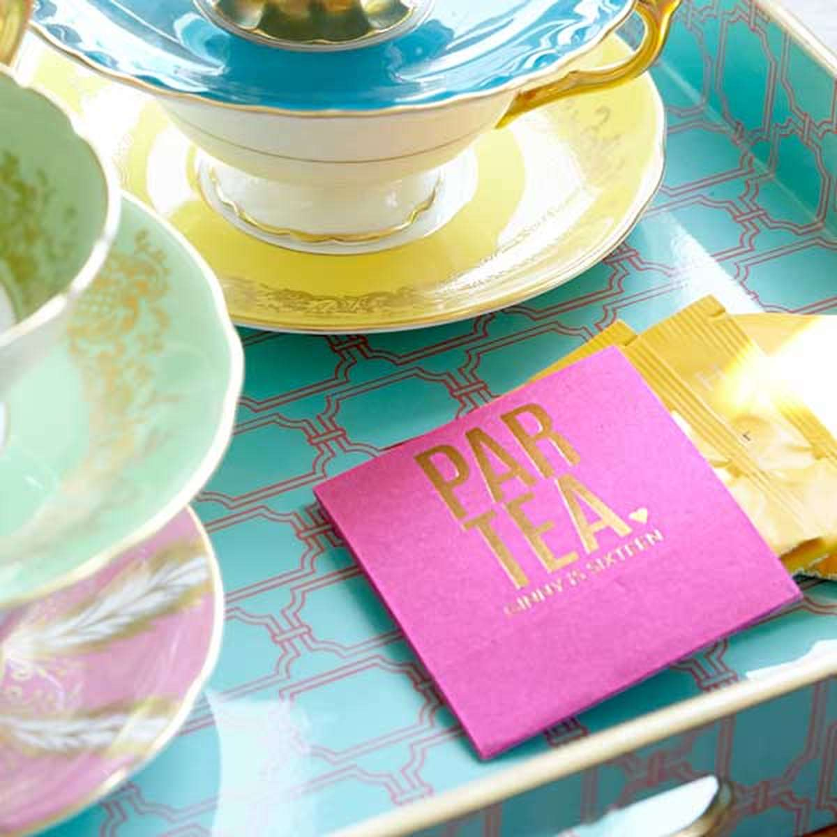 personalized tea favor