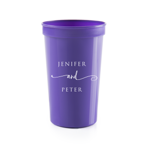 Our personalized Silver 16 oz Stadium Cup with Matte White Ink Cup Ink Colors can't be beat. Showcase your style in every detail of your party's theme!