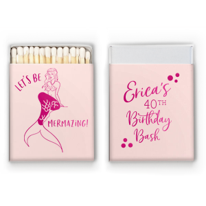 Custom Neon Yellow Candle Matchbox with Shiny Fuchsia Foil has a Mermaid graphic and is good for use in Trendy, Beach/Nautical and Outdoors themed parties and couldn't be more perfect. It's time to show off your impeccable taste.