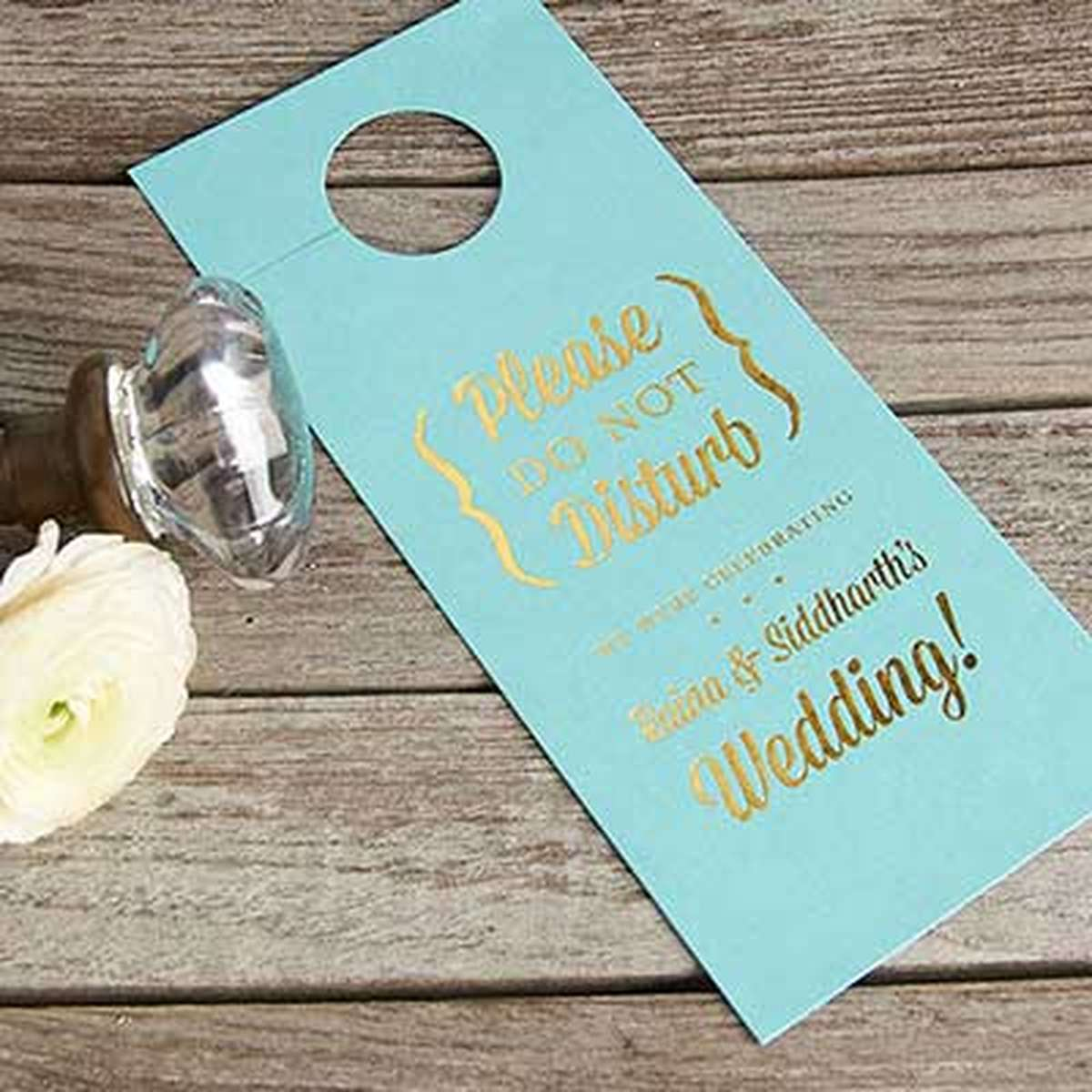 personalized door hanger