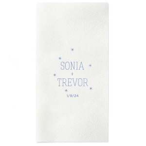 Personalized Lavender Cocktail Napkin with Shiny Royal Blue Foil are a must-have for your next event—whatever the celebration!