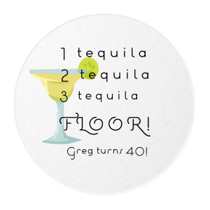 Our custom White Photo/Full Color Round Coaster with Matte Black Ink Digital Print Colors will give your party the personalized touch every host desires.
