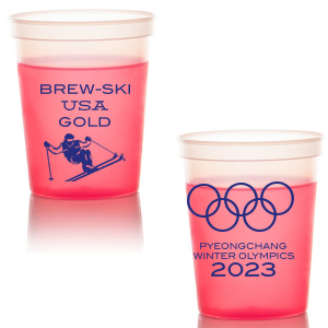 Our beautiful custom Gold 16 oz Stadium Cup with Matte Lipstick Red Ink Cup Ink Colors has a Mogul Skiing graphic and is good for use in Olympic Sports themed parties and will look fabulous with your unique touch. Your guests will agree!
