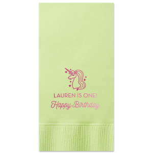 Unicorn Birthday Napkin