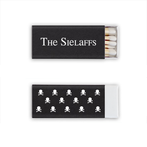 Our custom Natural Black Classic Matchbox with Matte White Foil can't be beat. Showcase your style in every detail of your party's theme!