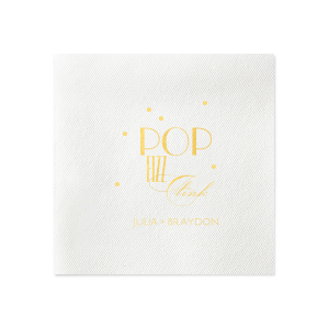 Custom Black Cocktail Napkin with Shiny 18 Kt Gold Foil will add that special attention to detail that cannot be overlooked.