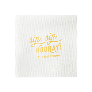 Our custom Honeydew Cocktail Napkin with Matte Spruce Foil are a must-have for your next event—whatever the celebration!