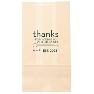Our beautiful custom Ivory Goodie Bag with Matte Spruce Foil Color has a Circle Flourish graphic and is good for use in Accents themed parties and couldn't be more perfect. It's time to show off your impeccable taste.