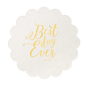 Best Day Ever Calligraphy Coaster