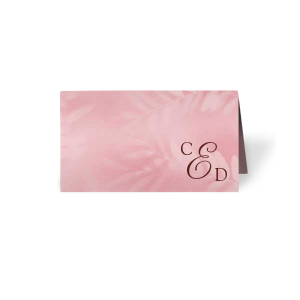 ForYourParty's elegant Leaf Cherry Classic Place Card with Shiny Merlot Foil can be customized to complement every last detail of your party.
