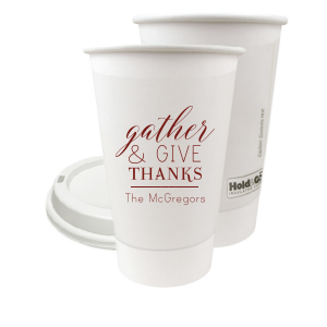 Custom Matte Merlot Ink 16 oz Paper Coffee Cup with Lid with Matte Merlot Ink Cup Ink Colors are a must-have for your next event—whatever the celebration!