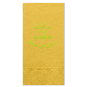 Our custom Sunflower Cocktail Napkin with Shiny Kiwi / Lime Foil couldn't be more perfect. It's time to show off your impeccable taste.