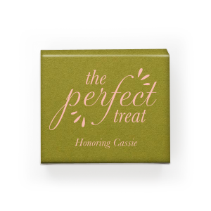 Custom Poptone Dark Olive Rectangle Box with Matte Pastel Pink Foil can be customized to complement every last detail of your party.
