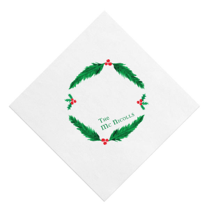 The ever-popular White Borderless Photo/Full Color Cocktail Napkin with Matte Leaf Ink Digital Print Colors has a Happy Holidays graphic and is good for use in Christmas, Holiday, Words themed parties and couldn't be more perfect. It's time to show off your impeccable taste.