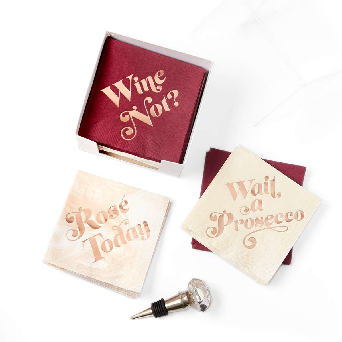 wine napkin gift set